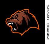 furious bear head sport vector...   Shutterstock .eps vector #610409843