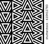 vector seamless pattern.... | Shutterstock .eps vector #610412783