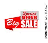 big sale banner. red discount...   Shutterstock .eps vector #610416467