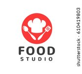 food studio vector logo....   Shutterstock .eps vector #610419803