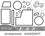 education paper game for... | Shutterstock .eps vector #610420937