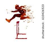 watercolor vector silhouette of ... | Shutterstock .eps vector #610426523