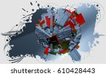 3d technology background | Shutterstock . vector #610428443