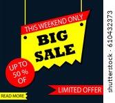 big sale and discount | Shutterstock .eps vector #610432373