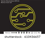 electronic circuit  icon ... | Shutterstock .eps vector #610436657