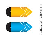 special yellow and blue arrow... | Shutterstock . vector #610440443