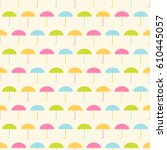seamless vector pattern with... | Shutterstock .eps vector #610445057