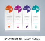 infographics design vector and... | Shutterstock .eps vector #610476533