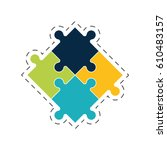 puzzle solution image concept... | Shutterstock .eps vector #610483157