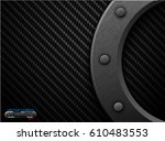 vector black carbon fiber... | Shutterstock .eps vector #610483553
