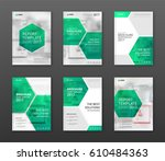 pharmaceutical brochure cover... | Shutterstock .eps vector #610484363
