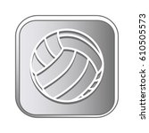 volleyball sport emblem icon   Shutterstock .eps vector #610505573