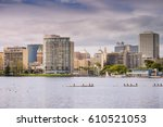 downtown oakland as seen from... | Shutterstock . vector #610521053