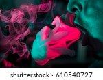 colorful smoke jellyfish ... | Shutterstock . vector #610540727