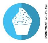 cupcake sweet dessert shadow | Shutterstock .eps vector #610543553