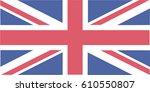 union jack flag.  | Shutterstock .eps vector #610550807