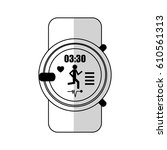 sport watch icon   Shutterstock .eps vector #610561313