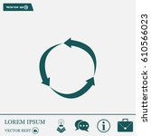 arrow circle icon   cycle  loop ... | Shutterstock .eps vector #610566023