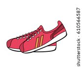 sneakers sport icon image    Shutterstock .eps vector #610566587