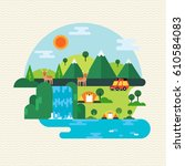the ecotourism | Shutterstock .eps vector #610584083