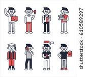 man boy character texture... | Shutterstock .eps vector #610589297