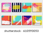 bright and colorful hand... | Shutterstock .eps vector #610593053