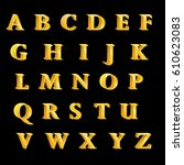 the british alphabet letters... | Shutterstock .eps vector #610623083
