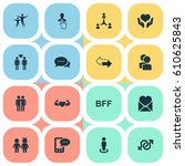 vector illustration set of... | Shutterstock .eps vector #610625843