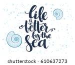vector hand lettering summer... | Shutterstock .eps vector #610637273