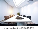inside the modern office  the... | Shutterstock . vector #610645493