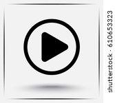 play button sign icon  vector... | Shutterstock .eps vector #610653323