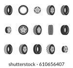 tires  wheel disks auto service ... | Shutterstock .eps vector #610656407