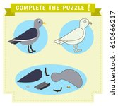 jigsaw puzzle education game.... | Shutterstock .eps vector #610666217