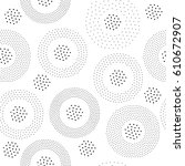 vector geometric seamless... | Shutterstock .eps vector #610672907