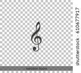 treble clef icon. | Shutterstock .eps vector #610677917