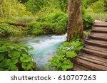 plitvice lakes park in croatia. | Shutterstock . vector #610707263