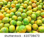 orange fruit | Shutterstock . vector #610738673