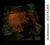 splattered black grungy... | Shutterstock . vector #610741343