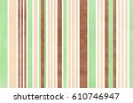 watercolor mint  brown and... | Shutterstock . vector #610746947