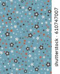 seamless floral pattern | Shutterstock .eps vector #610747007