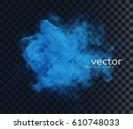 vector illustration of smoke.... | Shutterstock .eps vector #610748033