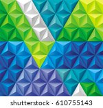 modern triangles and pyramids... | Shutterstock .eps vector #610755143