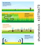 irrigation automatic systems 4... | Shutterstock .eps vector #610756673