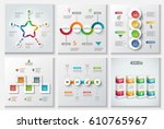 abstract infographics number... | Shutterstock .eps vector #610765967
