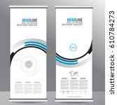 roll up business brochure flyer ... | Shutterstock .eps vector #610784273