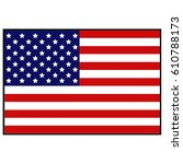 vector illustration of usa flag | Shutterstock .eps vector #610788173