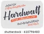 rough version of calligraphic... | Shutterstock .eps vector #610796483
