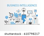 business intelligence concept... | Shutterstock .eps vector #610798217