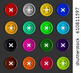 buttons. set of multicolored...   Shutterstock .eps vector #610811597
