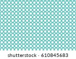 vector dots seamless pattern... | Shutterstock .eps vector #610845683